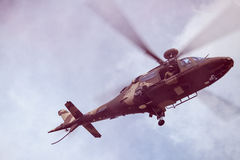 South African Air Force Agusta flying in pink smoke Stock Images