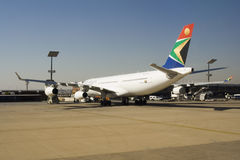 South African Airways Plane Royalty Free Stock Photo