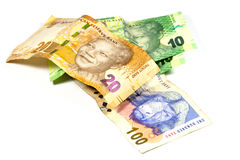 South African Bank Notes Featurning Nelson Mandela Royalty Free Stock Image