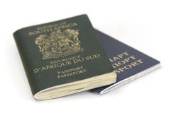 South African and Belarussian Passport stock photos
