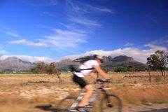 South african on a bike Stock Photo