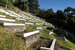 South African Boer war graves on St Helena Island Stock Photography