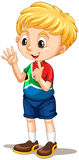 South African boy counting with fingers vector illustration