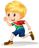 South African boy running Stock Images