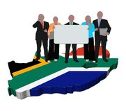 South African business team Stock Photography