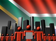 South African business team with skyline Royalty Free Stock Image