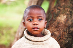 South African Child. A South African child from a township near Durban royalty free stock photography