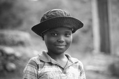 South African Child. A South African child from a township near Durban stock image