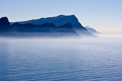 South African Coastline in Blue Royalty Free Stock Photos