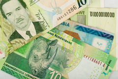 South african countries banknotes Stock Image
