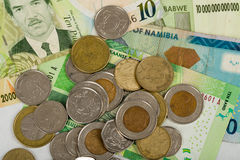 South african countries banknotes Royalty Free Stock Images