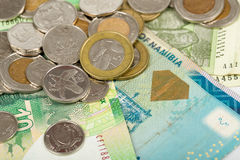 South african countries banknotes Stock Photos