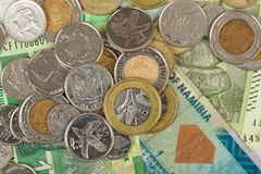 South african countries banknotes Royalty Free Stock Photography