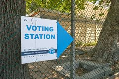 Polling station South Africa stock image