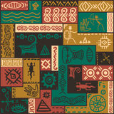 South African ethnic pattern. Vector ornament. Stock Images