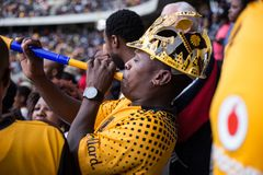 South African Fan Vuvuzela stock images