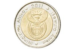 South African five rand coin royalty free stock image