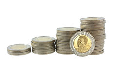 South African Five Rand Coins Royalty Free Stock Photo