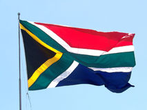 The South African Flag. In the wind Royalty Free Stock Photography