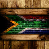 South African flag. Stock Images