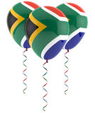 South African flag balloon. Isolated on white Royalty Free Stock Image