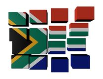 South African Flag on cubes Stock Photography