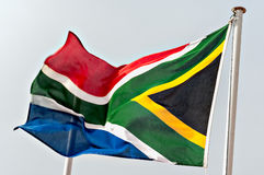 South African Flag. Fluttering in the Wind royalty free stock photos