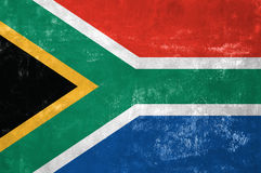 South African Flag. On Old Grunge Texture Background royalty free illustration