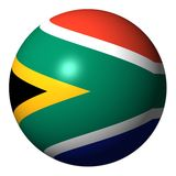 South African flag sphere Stock Photography
