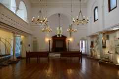 South African Jewish Museum Interior, Cape Town, South Africa. A view of the interior of the museum adjacent to famous Gardens Synagogue in Cape Town. It holds Royalty Free Stock Photos