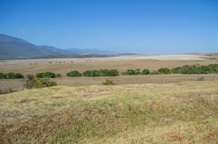 South African Landscape with Mountains and Fields Royalty Free Stock Photos