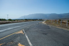 South African Landscape with Mountains and Highway Stock Photo