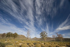 South African landscape with striking clouds Royalty Free Stock Photo