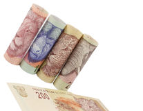 South African Money Notes Stock Images