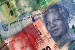 South african money notes royalty free stock photos