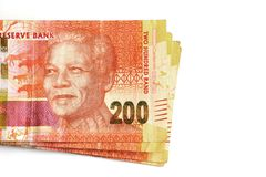 South African money, two hundred rand notes