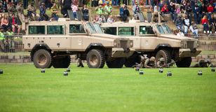 South African National Defence Force Mamba Vehicles Royalty Free Stock Image