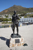 South African Navy the standby diver statue Royalty Free Stock Photography