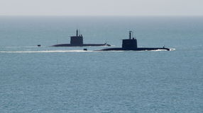South African Navy Submarines. At the Navy Fleet Review Royalty Free Stock Photos