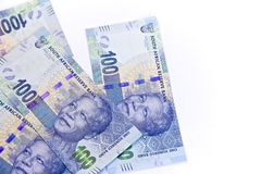 South African, New one hundred bank notes Stock Photography