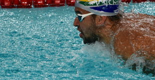 South African Olympic and world champion swimmer Chad Le Clos Stock Images