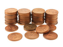 South African One Cent Coins Royalty Free Stock Photos