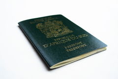 South african passport. A green south african passport stock photos