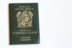 South African Passport. Green South African Passport Document Stock Photography