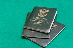 South African passports stock photos