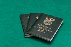 South African passports stock image