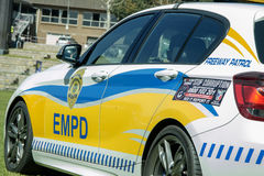 South African Police Car - EMPD Closup Side View Angled.  Stock Images