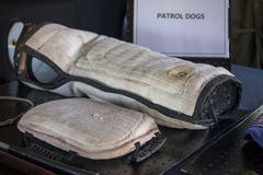 South African Police Service K-9 equipment on display Stock Photography