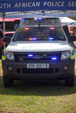 South African Police Service K-9 Vehicle on display Stock Photos