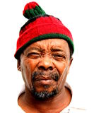 South African. Portrait of plain, black, older, south african man Stock Image